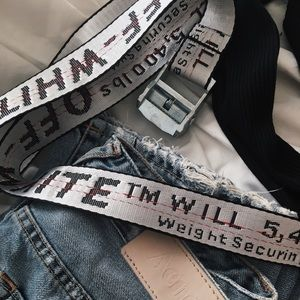 Off white white utility belt